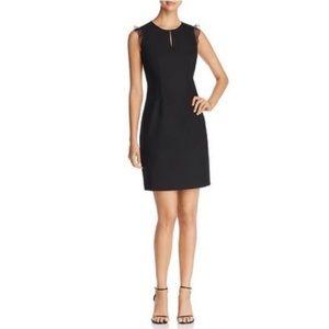 Elie Tahari Deloria Wool Blend Sheath Dress Black